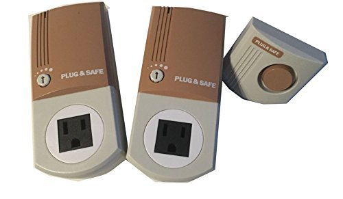 Plug & Safe PS8 Home Motion Sensor (2 pack) with RX6 Siren - Brown