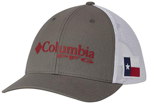 (Columbia PFG Logo Snap Back Ball Cap, Breathable,)