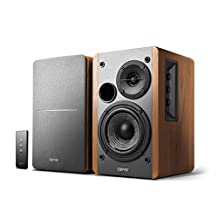 "Edifier R1280T Powered Bookshelf Speakers, 2.0 Active Near Field Monitors - 4"" Studio Monitor Speaker - Wooden Enclosure - 42 Watt RMS"