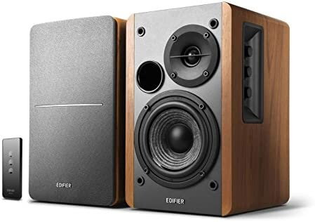 Edifier R1280T Powered Bookshelf Speakers, 2.0 Active Monitor System Renewed