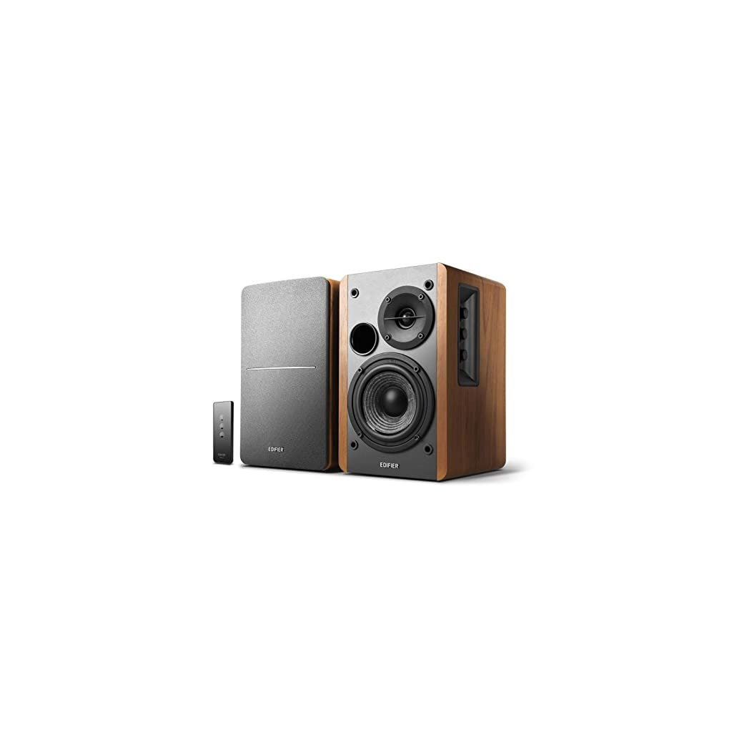 Edifier R1280T Powered Bookshelf Speakers – 2.0 Stereo Active Near Field Monitors – Studio Monitor Speaker – Wooden Enclosure – 42 Watts RMS