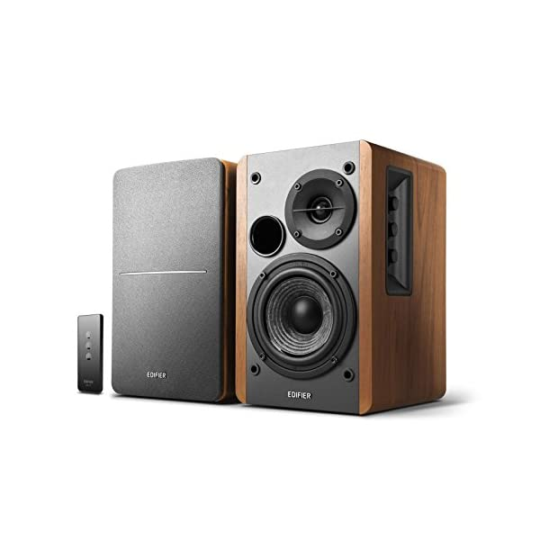 Edifier R1280T Powered Bookshelf Speakers – 2.0 Active Near Field Monitors – Studio Monitor Speaker – Wooden Enclosure – 42 Watts RMS