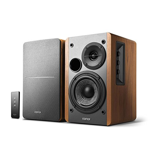 Active Remote (Edifier R1280T Powered Bookshelf Speakers - 2.0 Active Near Field Monitors - Studio Monitor Speaker - Wooden Enclosure - 42 Watts RMS)