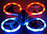 Wonder Chopper EWONDERWORLD Drone for Kids & Beginners Easy to Fly Sky Patroller Mini Quadcopter with LED Lights - Toy RC Plane