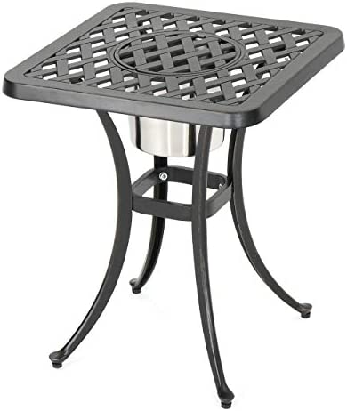 Christopher Knight Home Ava Outdoor Cast Aluminum Chat Table
