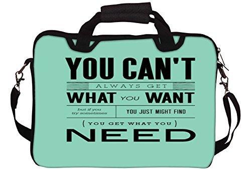 Snoogg Sie bekommen, was Sie brauchen Gedruckt Notebook-Tasche mit Schultergurt 15 bis 15,6 Zoll