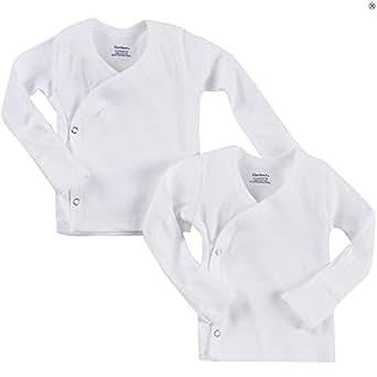 Amazon Com Gerber Unisex Baby 2 Pack Long Sleeve Side