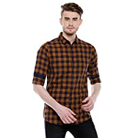 Dennis Lingo Men's Checkered Mustard...