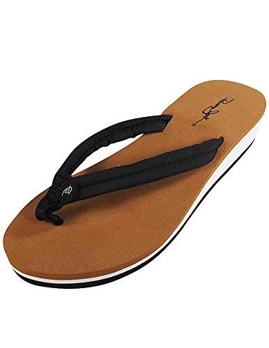 Panama Jack - Ladies Flip Flop Sandal, Black 37294-Medium