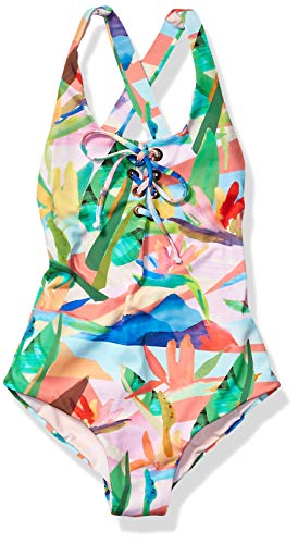 Maaji Girls' Big Lace Up Tie One Piece Swimsuit