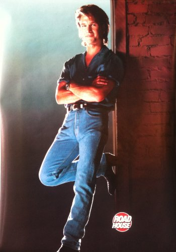 Patrick Swayze Mint Sealed Road House Poster Large Dated 1989