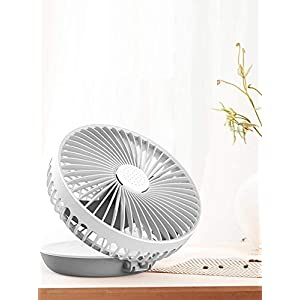JIYANA Foldable Desktop Aromatic Rechargeable mini 6 Inch Small Fan Table for Home Kitchen – Multicolor