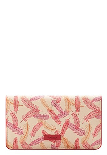 Mango Women's Printed Wallet, Ecru, One Size by MANGO