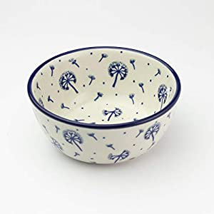 Polish Pottery Cereal Bowl Dandelion