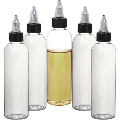 Twist bottle Plastic Oil bottle Steel Needle Dropper Bottles squeezable dropping bottler for Flavorings and liquid (120ml)