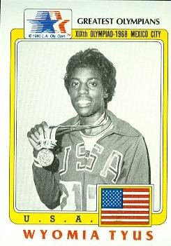 Wyomia Tyus trading card (Olympic USA Track Sprinter Gold Medal) 1983 Greatest #60