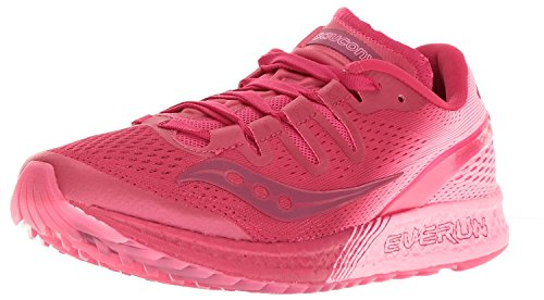 Saucony Womens Freedom ISO Running Shoe, rosado (Berry/Pink), 37 B(M) EU/4 B(M) UK