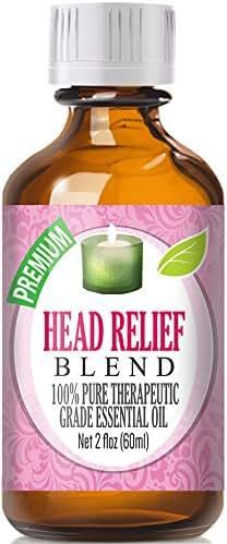 Head Relief Essential Oil Blend - 100% Pure Therapeutic Grade Head Relief Blend Oil - 30ml
