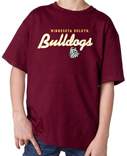 Script T-shirt Youth (J2 Sport Minnesota Duluth Bulldogs NCAA Machine Script Youth T-shirt)
