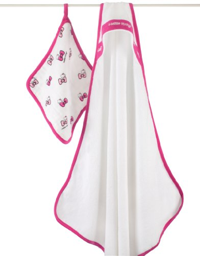 Aden + Anais Hello Kitty Hooded Towel Set
