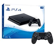 Playstation 4 1TB Slim Console and Extra Black Dualshock 4 Wireless Controller Bundle