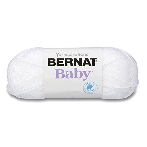 Bernat Baby Sparkle Yarn, 1.5 Ounce, White, Single Ball (16303636576)