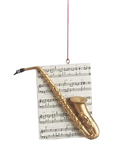 Saxophone Brass Instrument Resin Stone Christmas Ornament - Figurines Brass Reindeer