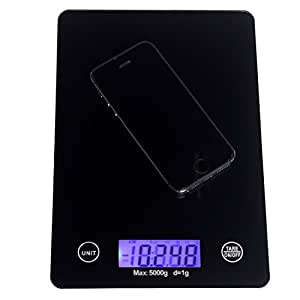 Andux Professional Glass Electronic Kitchen Scale Touch Buttons Nutrition Scales Household kitchen Scale 5kg/1g CFC-01
