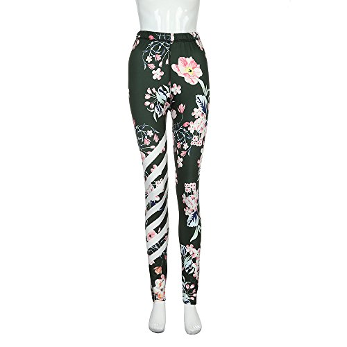 Womens Floral Printed Yoga Pant, Luca Workout Gym Leggings