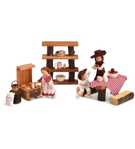 rniture Pioneer Day Set (Miniature Log Furniture)