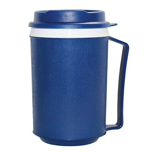 Rehabilitation Advantage Insulated Mug with Tumbler Lid, Blue, 0.3 Pound by Rehabilitation Advantage