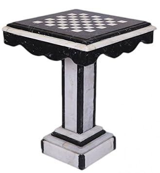 casa padrino luxus barock spieltisch schach / dame tisch marmor ... - Marmor Wohnzimmer Tische