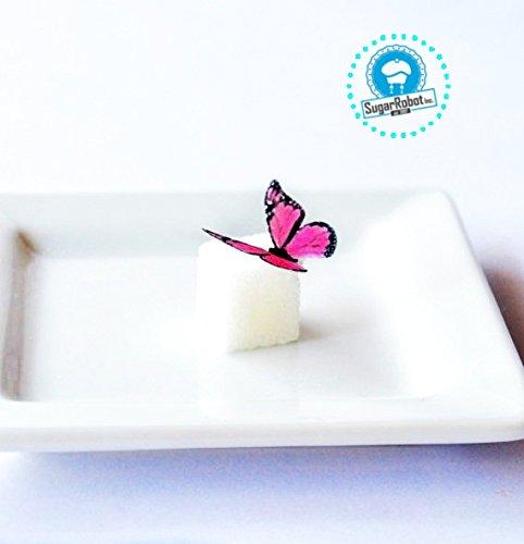 Edible Butterflies © - Mini Assorted Pink Set of 48 - Cake