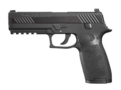 SIG Sauer P320 Air Pistol with CO2 12 Gram (15 Pack) and 500 Lead Pellets Bundle (Black)