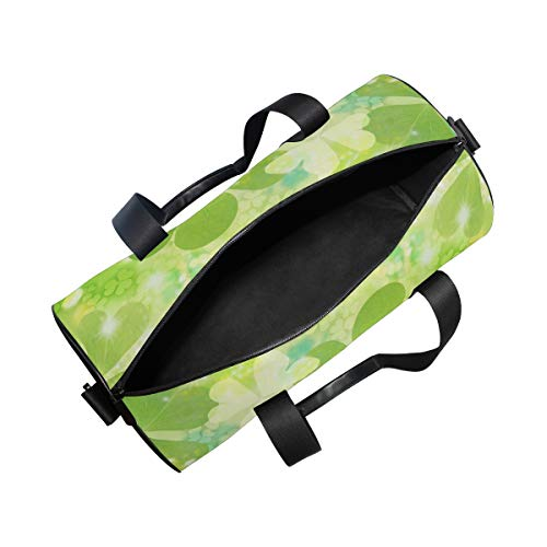 5935030e59c7 OuLian Sports Bag Green Four Leaf Clover Mens Duffle Luggage Travel Bags  Womens Lightweight Gym Bag