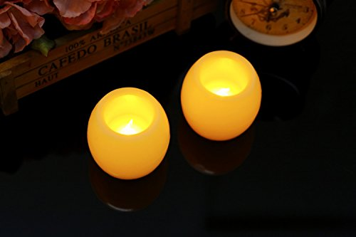 Flameless Candles Real Wax Battery Candles Tea Lights Fake Led Votive Candles(Ivory Color)Pack of (Mickey's Halloween Party Fireworks)