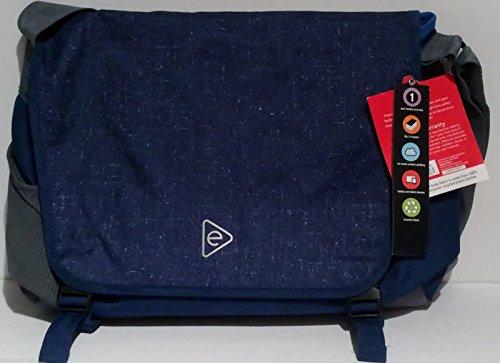 Messenger Bag Slimline Tech Fits Laptop Tablet Blue Padded 12.5