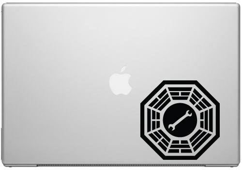 Pool Vinyl University - Lost Dharma Motor Pool Decal Sticker - Vinyl Decal for Cars, Macbooks, and Other Laptops