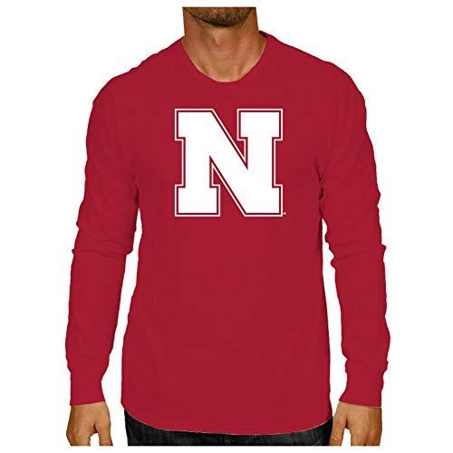 Elite Fan Shop Nebraska Cornhuskers Long Sleeve Tshirt Red Icon - L ()