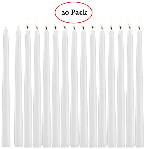 Blessed family White Candles,Dripless Taper Candles 10