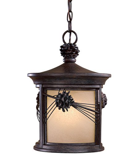 Minka Lavery 9154-A357-PL 1 Light Chain Hung Lighting, Iron Oxide