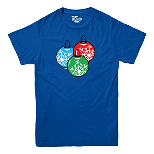 Christmas Ball Ornaments - Snowflakes - YOUTH Big Boys T-shirt (XS, ROYAL BLUE)