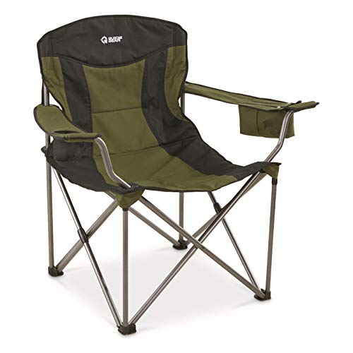 Guide Gear Oversized XXL Camp Chair, 600-lb. Capacity, Green/Black