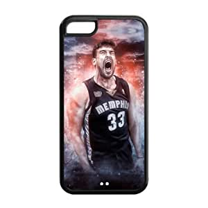 Fashionable Designed iPhone 5C TPU Case with Memphis Grizzlies Marc Gasol Image-by Allthingsbasketball