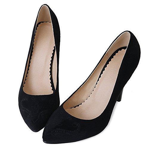 Fermé Taoffen Talon Femmes Black Enfiler À Briller Escarpins Chaussures Haut 5 Bout Frtfrw4Oqx