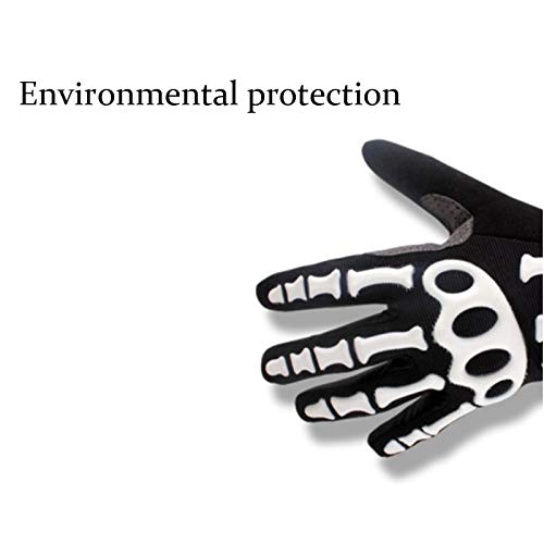 AINIYF Full Finger Motorcycle Gloves | Men's And Women's Mountain Bikes Sports Gloves Ankle Spring And Autumn (Color : White, Size : M) by AINIYF (Image #6)
