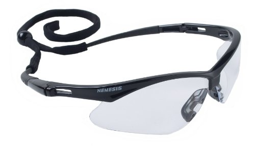 - 12 Pack Jackson Safety 3000354 Nemesis Safety Glasses Black Frame/Clear Lens (19804)