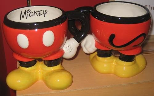 Disney Mickey Mouse Body Parts Ceramic Coffee Cup ()