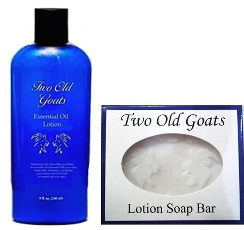 Two Old Goats Essential Lotion 8 Oz Soap Bar For Your Toughest