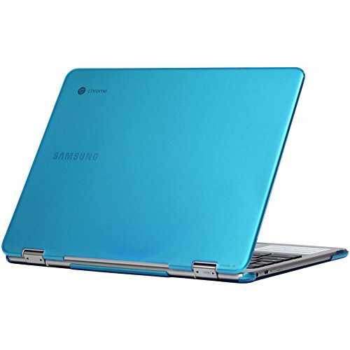 """iPearl mCover Hard Shell Case for 12.3"""" Samsung Chromebook Plus XE513C24 Series (NOT Compatible with Older XE303C12 / XE500C12 / XE503C12 Models) Laptop - Chromebook Plus XE513C24 (Aqua)"""